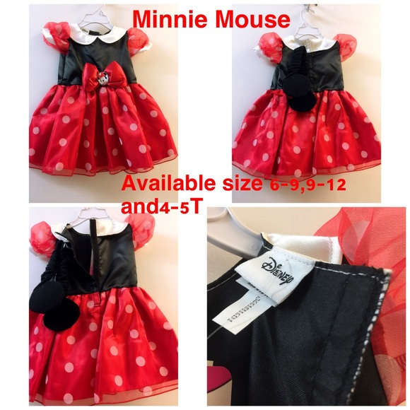 Halloween Disney Minnie Mouse Dress /& Headpiece Costume Size 3T-4T NWT